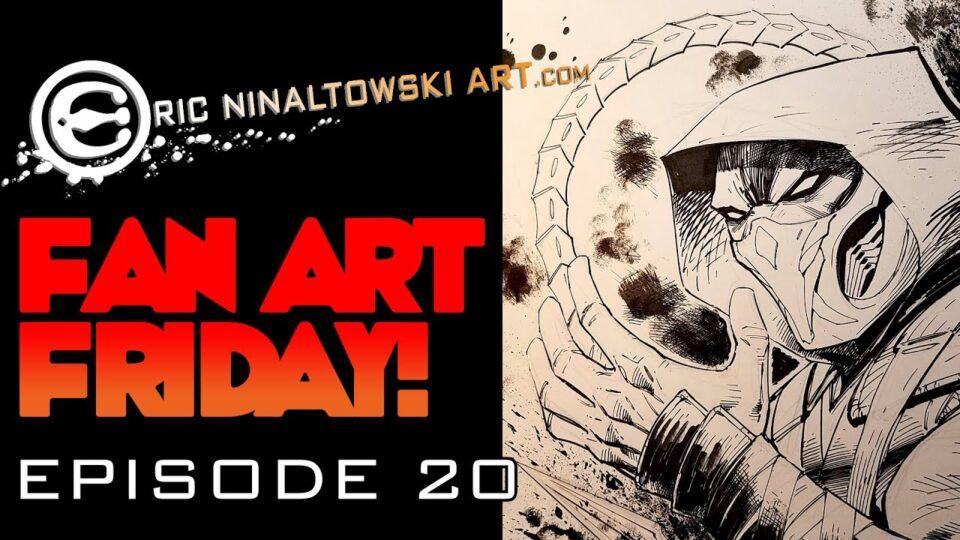 FAN ART FRIDAY! EPISODE 20! Drawing Scorpion! Aka Hanzo Hasashi