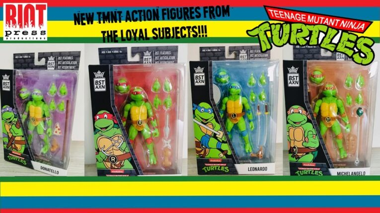 NEW! TMNT Animated Action Figures from The Loyal Subjects!