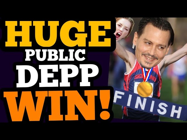 Depp scores his BIGGEST PUBLIC WIN EVER, while Heard LOSES – AGAIN!